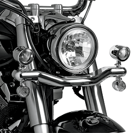 Show Chrome Mini Driving Light Kit - Contour - 2008 Yamaha V Star 1100 Custom - XVS11 Show Chrome Driving Light Kit - Elliptical