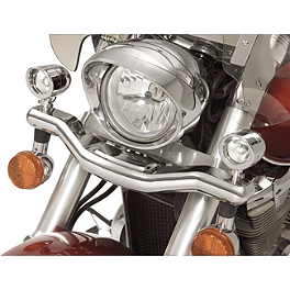 Show Chrome Mini Driving Light Kit - Contour - 2010 Honda Shadow RS 750 - VT750RS Cobra Lightbar - Chrome