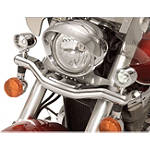 Show Chrome Mini Driving Light Kit - Contour - Yamaha 2015-V-STAR-650-SILVERADO-XVS65AT--SHOW-CHROME-CONTOUR-DRIVING-LIGHT-KIT Show Chrome Cruiser