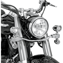 Show Chrome Mini Driving Light Kit - Elliptical - 2007 Kawasaki Vulcan 900 Classic LT - VN900D Cobra Lightbar - Chrome