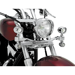 Show Chrome Mini Driving Light Kit - Elliptical - 2012 Honda Interstate 1300 ABS - VT1300CTA Cobra Lightbar - Chrome