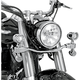 Show Chrome Mini Driving Light Kit - Elliptical - 2008 Yamaha V Star 1100 Classic - XVS11A Cobra Lightbar - Chrome