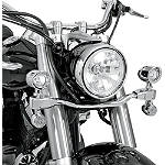 Show Chrome Mini Driving Light Kit - Elliptical - Cruiser Light Bars
