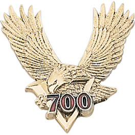 "Show Chrome 2"" V700 Eagle Emblem - Show Chrome Helmet Holder Pins - 6mm"