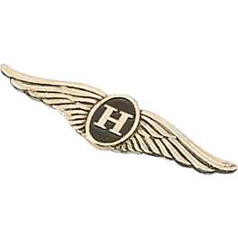 "Show Chrome 3"" H-Wing Flat Emblem - Show Chrome Radiator Grilles - Chrome"
