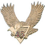 "Show Chrome 3"" V45 Eagle Emblem - Show Chrome Cruiser Products"