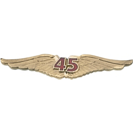 "Show Chrome 3"" V45 Wing Emblem - Show Chrome Eagle Head Air Cleaner Cover"