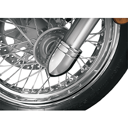 Show Chrome Bullet Fork Covers - Show Chrome Domed Fork Cap Covers
