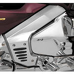 Show Chrome Frame Cover - Chrome With Rubber Inserts - Cruiser Frame Covers