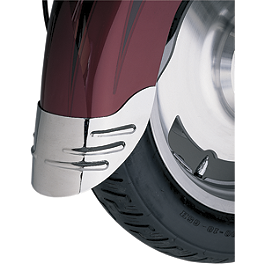 Show Chrome Front Fender Extension - Teardrop - Show Chrome Coolant Overflow Cover