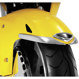 Show Chrome Front Fender Medallion - Show Chrome Contours Mirror Accents