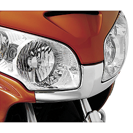 Show Chrome Front Fairing Nose Trim - 2007 Honda Gold Wing 1800 Premium Audio - GL1800 Show Chrome Lower Wind Deflector - Bright Red