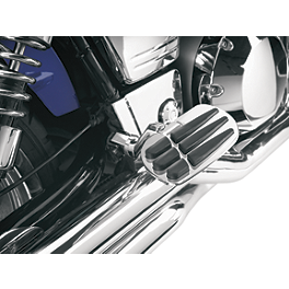 Show Chrome Vantage Front Highway Boards - 2002 Kawasaki Vulcan 1500 Classic - VN1500E Show Chrome Helmet Holder Pin - 10mm