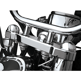 Show Chrome Domed Fork Cap Covers - 2012 Honda Shadow Phantom 750 - VT750C2B Show Chrome Coolant Overflow Cover