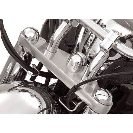 Show Chrome Domed Fork Cap Covers - Main