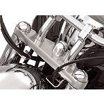 Show Chrome Domed Fork Cap Covers -  Cruiser Suspension