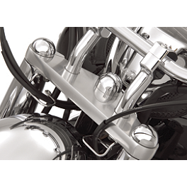 Show Chrome Domed Billet Fork Stem Cover - 2001 Yamaha V Star 1100 Classic - XVS1100A Show Chrome Highway Bars