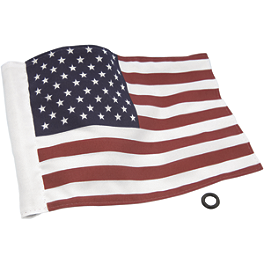 "Show Chrome American Flag - 6""X9"" - Show Chrome Cord Keeper - Chrome"