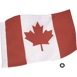 "Show Chrome Canadian Flag - 6""X9"" - 2009 Kawasaki Vulcan 500 LTD - EN500C Show Chrome E-Z Mount Cruiser Windshield For 1"