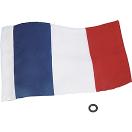 "Show Chrome French Flag - 5-1/2""X8"" - Show Chrome Peg Set With Driver Anti-Rotation Block - Teardrop"