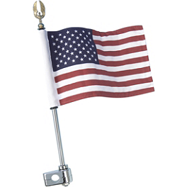 "Show Chrome 12"" Flag Pole With 1/2"" Clamp - 1995 Honda Gold Wing SE 1500 - GL1500SE Show Chrome Grommet Set"