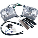 Show Chrome Fog Light Kit - Cruiser Motorcycle Light Bars