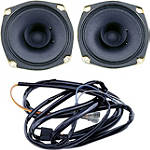 "Show Chrome 4-1/2"" 1-Way Front Speakers - Show Chrome Cruiser Electronic Accessories"