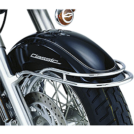 Show Chrome Front Fender Rail - Cobra Tube Solo Luggage Rack For OEM Backrest