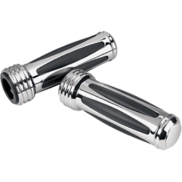 Show Chrome Comfort Raised Closed Ended Grips - Show Chrome Valve Stem Covers - Ribbed