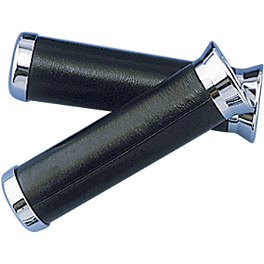 Show Chrome Black Leather Grips - 2000 Honda Gold Wing Aspencade 1500 - GL1500A Show Chrome Slider Brake Pedal - Flame