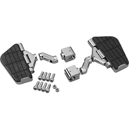 "Show Chrome Highway Board Set For 1"" Bar - 1996 Kawasaki Vulcan 750 - VN750A Show Chrome Helmet Holder Pin - 10mm"