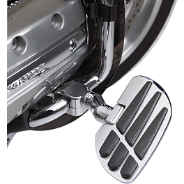 "Show Chrome Vantage Highway Board Set For 1"" Bar - Show Chrome Front Peg Kits - Flame"