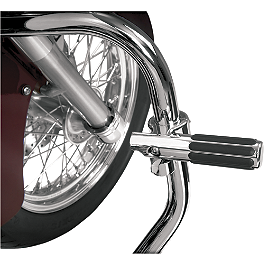Show Chrome Highway Bar Clamp With Rail Peg - Show Chrome Domed Fork Cap Covers