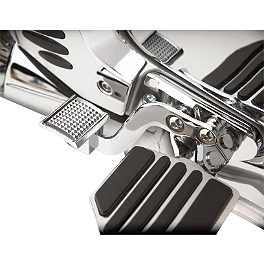 Show Chrome Brake Side Heel Rest - 2001 Honda Gold Wing 1800 - GL1800 Show Chrome Handlebar Clamp Plugs