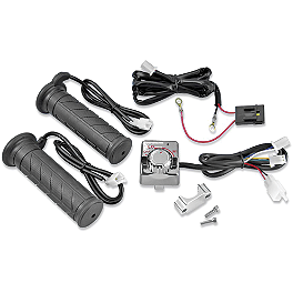 "Show Chrome Heated Grips 1"" X 5"" - 2008 Honda Shadow Aero 750 - VT750CA Show Chrome Driving Light Kit - Elliptical"
