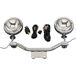 Show Chrome Halogen Spotlight Kit - 2003 Kawasaki Vulcan 1500 Classic - VN1500E Kuryakyn Driving Light Bar Mounting Bracket