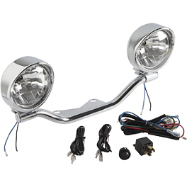 Show Chrome Halogen Spotlight Kit - 2002 Honda Shadow Spirit 1100 - VT1100C National Cycle Light Bar