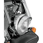 "Show Chrome Universal 7"" Headlight Visor - Show Chrome Cruiser Lighting"