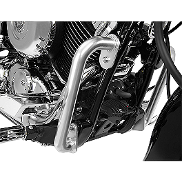 Show Chrome Highway Bars - 1999 Yamaha V Star 650 Classic - XVS650A Show Chrome Slider Brake Pedal - Flame