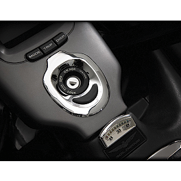 Show Chrome Key Accent With Rubber Scuff Pad - 2003 Honda Gold Wing 1800 ABS - GL1800A Show Chrome Handlebar Clamp Plugs