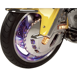 Show Chrome Replacement LED Strips For Lighted Front Rotor Covers - 2006 Yamaha V Star 650 Midnight Custom - XVS65M Show Chrome Slider Brake Pedal - Flame