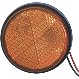 Show Chrome Replacement Lens For Round LED Marker Light - 2004 Honda VTX1300C Show Chrome Vantage Rear Highway Boards