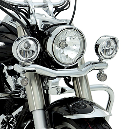 Show Chrome LED Driving Light Kit - Contour - 2010 Kawasaki Vulcan 2000 Classic LT - VN2000J Cobra Lightbar - Chrome