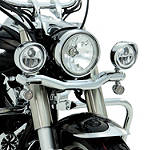 Show Chrome LED Driving Light Kit - Contour - Cruiser Motorcycle Light Bars