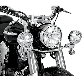 Show Chrome LED Driving Light Kit - Elliptical - 2009 Kawasaki Vulcan 2000 Classic LT - VN2000J Cobra Lightbar - Chrome