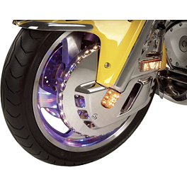 Show Chrome Replacement Center LED For Lighted Front Rotor Covers - 2001 Kawasaki Vulcan 1500 Classic Fi - VN1500N Show Chrome Front LED Turn Signal Conversion Kit