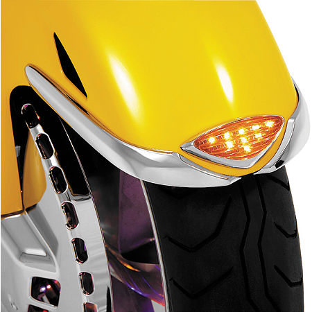 Show Chrome LED Front Fender Medallion - Main