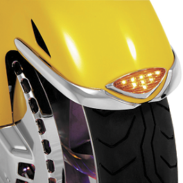 Show Chrome LED Front Fender Medallion - Honda Genuine Accessories Chrome Rear Lower Cowl