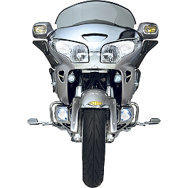 Show Chrome LED Lower Fog Light Kit - 2003 Honda Gold Wing 1800 - GL1800 Show Chrome LED Martini Trunk Molding Insert