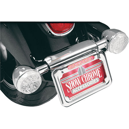 Show Chrome Raised License Plate Holder - Dual Function - Main